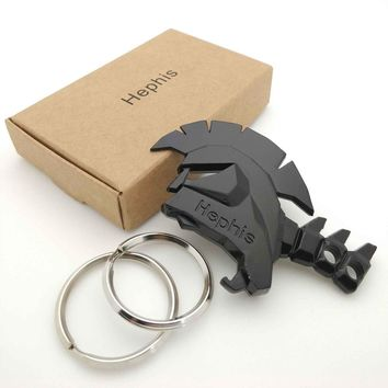 Hephis Unique bottle opener keychain fashion trinket gift for your lover/family/friend key rings holder tape cutter key chain K4