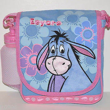 DISNEY WINNIE THE POOH EEYORE EMBROIDERED LUNCH BOX LUNCH BAG LUNCH PAIL-NEW!