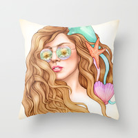 Free my mind, ARTPOP Throw Pillow by Helen Green