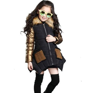 Hooded Fur Girl Jacket