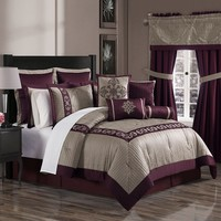 Hampshire 16-pc. Bed Set - King (Red)