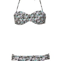 gathered tie bikini set