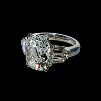 1.65 ct. cushion cut center diamond anniversary ring