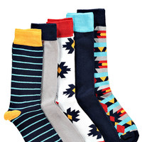 Multi Pattern 5 Pack Socks