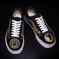 Vans x Versace Classic Old Skool Flats Sneakers Sport Shoes