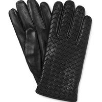 Bottega Veneta - Cashmere-Lined Intrecciato Leather Gloves | MR PORTER