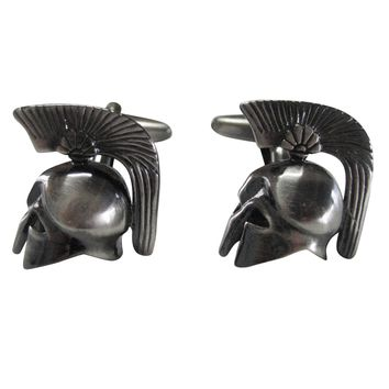 Greek War Helmet Cufflinks