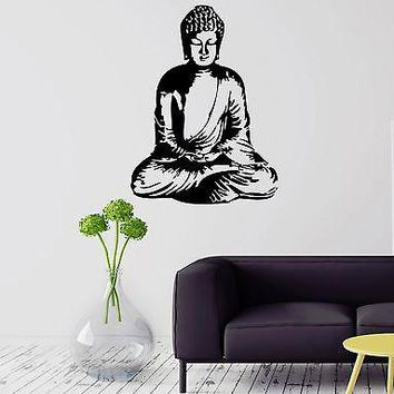 Wall Sticker Buddha Meditation Buddhism Religion Mantra Vinyl Decal Unique Gift (ig1165)