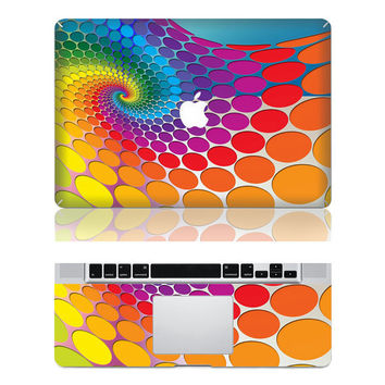 Colorful Swirl  Macbook Protective Decals Stickers by PerfectDecal