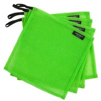 LUNATEC® Odor-Free Dishcloths. The perfect scrubber, dish cloth, sponge and scouring pad for cleaning your dishes, pots and pans, and kitchen gear. Ideal for home, RV, boat galley and camp site. (4, Lime)