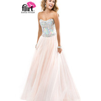 (PRE-ORDER) Flirt by Maggie Sottero 2014 Prom Dresses-Blush Ball Gown with Sequined Bodice