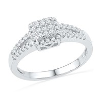 Square Framed Diamond Fashion Ring 1/4ctw