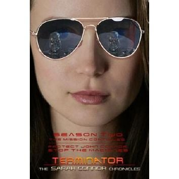 Terminator Sarah Connor Chronicles Movie poster Metal Sign Wall Art 8in x 12in