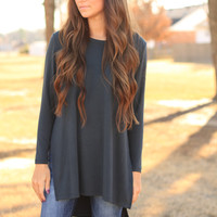 The Dark Teal Softest Top