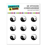 Graphics and More Yin Yang Home Button Stickers Fits Apple iPhone 4/4S/5/5C/5S, iPad, iPod Touch - Non-Retail Packaging - Clear