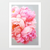 Peonies Forever Art Print by Creature Comforts