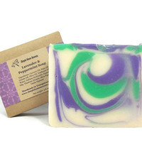 Lavender and Peppermint Soap, Essential Oil Soap, Handmade Soap, Vegan Soap, Gift under 10