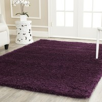 Safavieh California Shag Collection SG151-7373 Purple Area Rug, 3 feet by 5 feet (3' x 5')