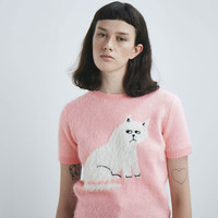 Lazy Oaf Furry Kitty Knitted Top - Pink - Everything - Categories - Womens