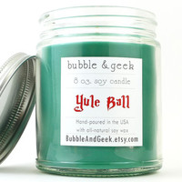 Yule Ball Scented Soy Candle - 8 oz. jar - evergreen, spices, citrus - Harry Potter