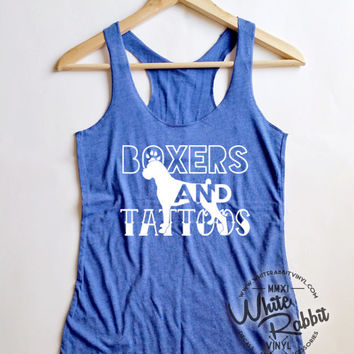 Boxers And Tattoos Tank Top tattoo dog lover