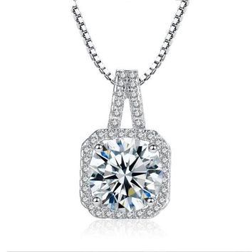 ON SALE - Lavish 2CT CZ Diamond Necklace