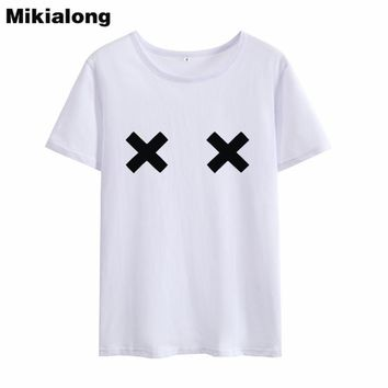 53cea309fd6c76 Mikialong 2018 Harajuku Kawaii Printing Summer Top Women T Shirt Funny  Graphic Tee Shirt Femme Short