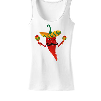 Red Hot Mexican Chili Pepper Womens Tank Top