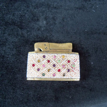 Prince Rhinestone Lighter Vintage 1950's Pink by MartiniMermaid