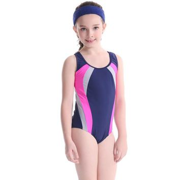 Children Kid Nylon Spandex Cute Swimsuit Beach Swimming Racing Surfing Suit Girl Rash Guard Swimwear Summer Cooling Suits New