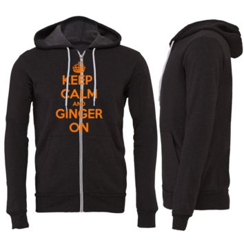 Keep Calm and Ginger On  Zipper Hoodie