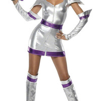 Sexy Space Cadet Costume, Metallic Space Cadet Dress, Sexy Space Dress