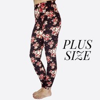 Rose Garden Leggings-Plus Size