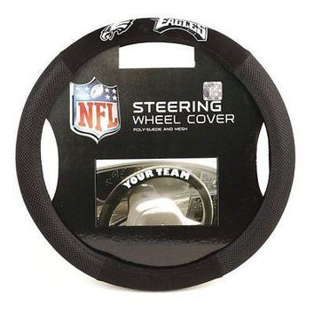 IFSB-BSI98517-NFL Philadelphia Eagles Poly-Suede Steering Wheel Cover