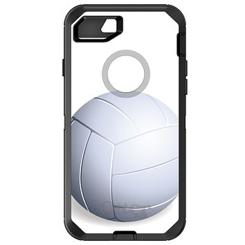 DistinctInk™ OtterBox Defender Series Case for Apple iPhone / Samsung Galaxy / Google Pixel - White Volleyball
