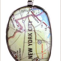 New York map necklace