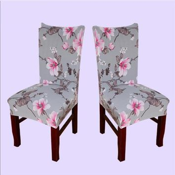New Spandex Stretch Printed Dining Chair Cover Machine Washable Restaurant For Weddings Banquet Folding Hotel Chair Covering#876