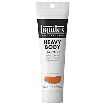Liquitex Professional Heavy Body Acrylic Paint 2-oz tube, Pyrrole Orange