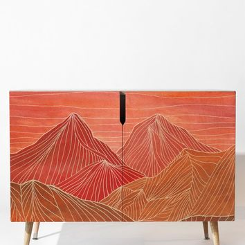Viviana Gonzalez Lines in the mountains V Credenza | DENY Designs Home Accessories