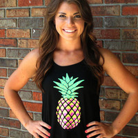 Pineapple Tank- Black