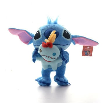 Amazing Blue Lilo and Stitch Toy Hold Scrump Style Plush Toys Boys Collection Cartoon