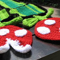 Nintendo Super Mario Brothers Piranha Plant Scarf by Xasper8ing
