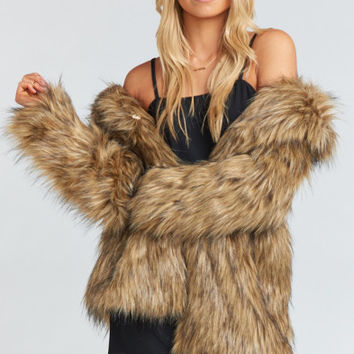 Ivanka Jacket ~ Bear Hug Faux Fur