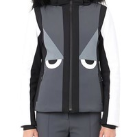 Creatures fur-trimmed hooded ski jacket