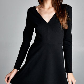 Andrea Vneck Skater Dress