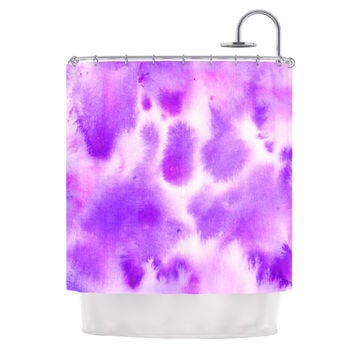 "Iris Lehnhardt ""Watercolor Purple"" Lavender Shower Curtain"