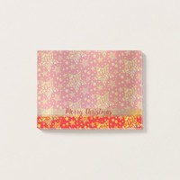 Golden Stars Pattern Post-it Notes