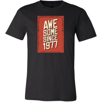 Funny 40th Birthday Awesome since 1977 Gift T-Shirt