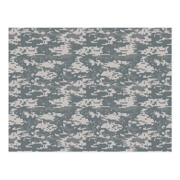 Digital Camouflage Pattern Postcard