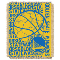 Golden State Warriors NBA Triple Woven Jacquard Throw (Double Play Series) (48x60)